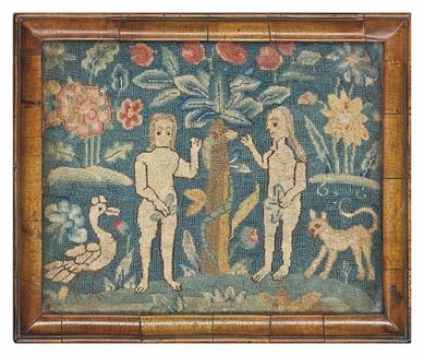 Needlework, English c. 1700